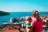 mother and little daughter looking at Dubrovnik, Croatia - 209223581