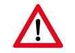 Schild Achtung Gefahr