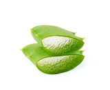 Aloe vera leaves isolated on the white background with clipping path - 209226773