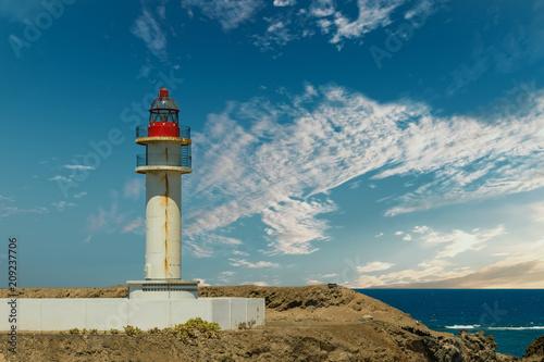 Fotobehang Vuurtoren Leuchtturm Taliarte auf der Insel Gran Canaria