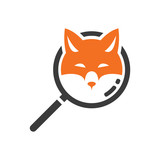 Smart Fox Search Detective Logo Symbol - 209239326