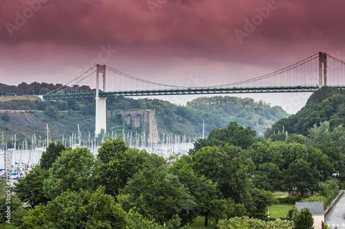 Fototapeta Pont suspendu en Bretagne