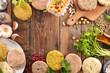 vegan burger with ingredients