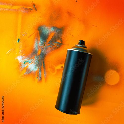 Color spray can for graffiti artwork
