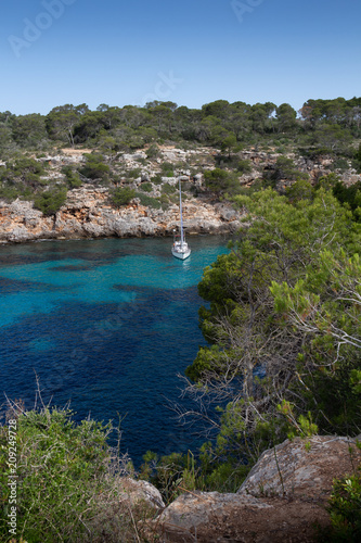 Mallorca, Spain; March 17, 2018: Views of Mallorca's pi creek