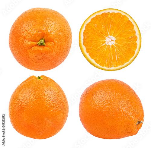 Soczysta pomarańcze odizolowywająca na białym tle z ścinek ścieżką