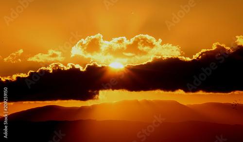 Cloud burst Sunset Crete