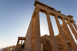 Columns of a temple on the Acropolis of Athens, Greece - 209261798