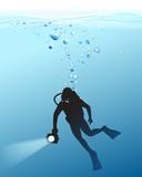 underwater sport - 209264975