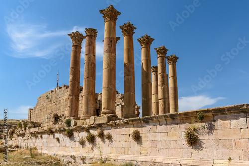 Jordan starożytne ruiny Jerash