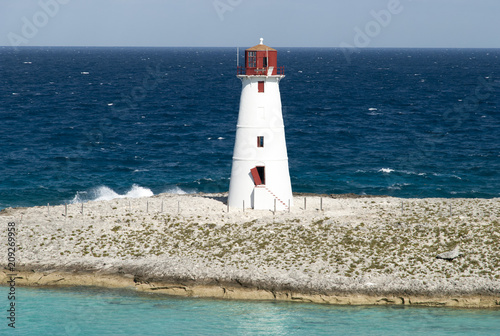 Fotobehang Vuurtoren Bahamas Paradise Island Lighthouse