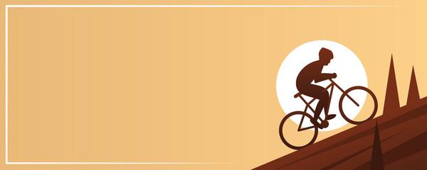 Mountain Biking Action Sport Banner