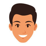 Young man face vector illustration graphic design - 209288991