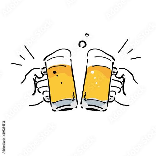 ビール イラスト 乾杯