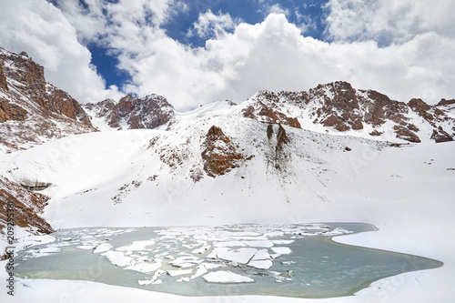 Snowy Mountain Lake