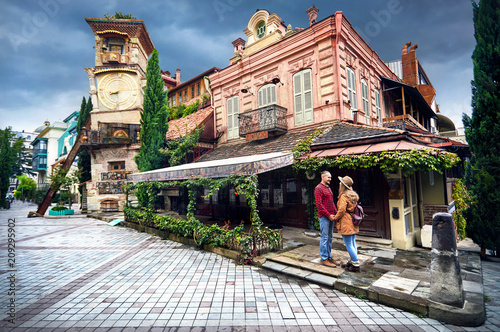 Traveler couple in Tbilisi