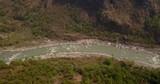 Aerial view of Kali Gandaki river near Kusma in Nepal - 209298560