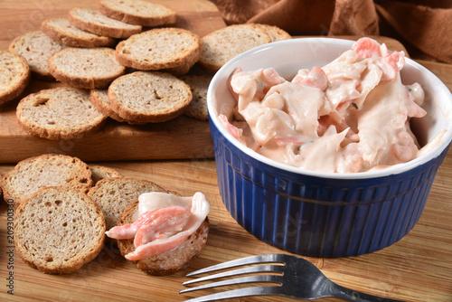 Fototapeta Seafood salad