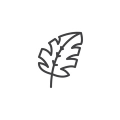 Tropical leaf outline icon. linear style sign for mobile concept and web design. Monstera Leaf Plant simple line vector icon. Symbol, logo illustration. Pixel perfect vector graphics