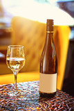 dry white wine poured in the restaurant - 209302189