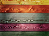 panel formed with different colors of planks  - 209304747
