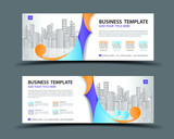 Banner template vector, abstract background, web banner template, billboard design, header page, Business flyer vetical layout, Modern Art graphics for website, gift card, advertisement