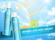Sunscreen spray ads