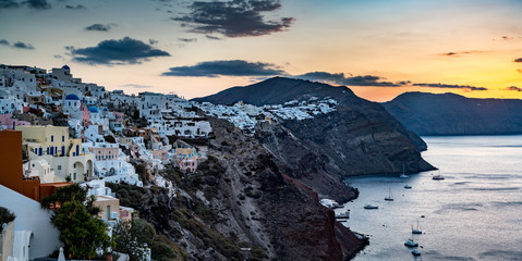 Sweeping view of Sunset in Santorini, Greece © Marcel
