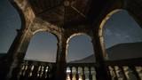 Morning light of sunrise over historic castle Time lapse - 209314900