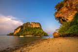 Evening at the beach of Ko Hong island in the Krabi province, Thailand - 209314984