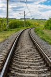 railway road turn - 209319770