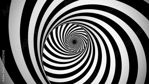 Optical black and white spinning illusion