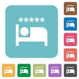 Luxury hotel rounded square flat icons - 209330556