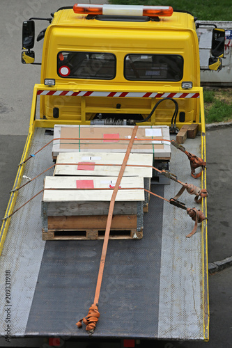 Pallets at Truck