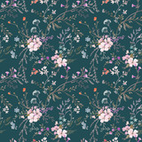 Watercolor floral vector pattern - 209332304