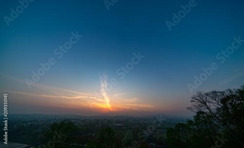 Fotobehang Zonsopgang Dramatic sunset and sunrise sky.
