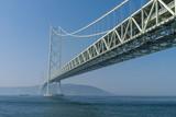 Akashi Kaikyo bridge, the world longest suspension metal bridge in Kobe, Japan