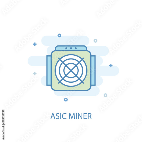 ASIC Miner concept line icon. Simple element illustration