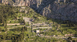 Aerial view of Ancient Delphi, the famous sanctuary in Central Greece - 209368717