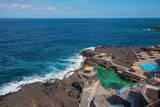 La Palma, Spain - May 31, 2018: Charco azul, a natural sea water pool in La Palma, Canary islands, Spain. - 209368756