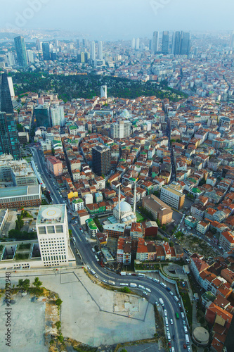 Panorama of city from height of skyscraper - 209372948