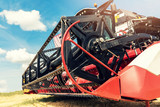 combine harvester draper head closeup - 209375521
