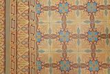 carreaux sol en ciment ancien à motifs et frises  - 209375931