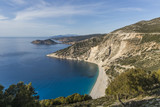 Aerial view of Myrtos beach, the best on Kefalonia island and in the whole Greece - 209386377