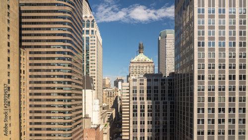 Fotobehang New York Office buildings panorama around 45th Street in New York
