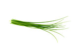Fresh green chives, garden herbs, Isolated against a white background. - 209396997