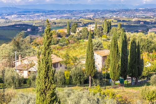 Aluminium Toscane paysage de Toscane, Italie