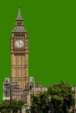 Big Ben in London, UK in isolated - 209416717