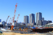 The construction site of Tokyo Olympic Village