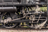 Steam locomotive train wheels